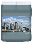 Detroit Riverfront Duvet Cover