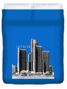 Detroit Skyline 1 - Blue Duvet Cover