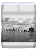 Detroit Skyline Duvet Cover