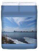Detroit Skyline Duvet Cover