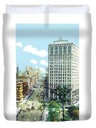 Detroit - The David Whitney Building - Woodward Avenue - 1918 Duvet Cover