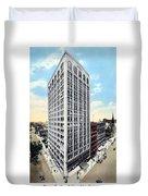 Detroit - The Kresge Building - West Adams Street - 1918 Duvet Cover