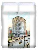 Detroit - The Majestic Building - Woodward Avenue - 1900 Duvet Cover
