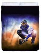 Detroit Tiger Alex Avila Duvet Cover