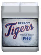 Detroit Tigers Wold Series 1945 Sign Duvet Cover
