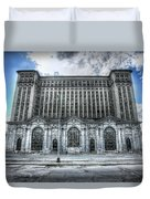 Detroit's Abandoned Michigan Central Train Station Depot Duvet Cover