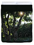 Devil Beating His Wife - Weather Phenomena Duvet Cover