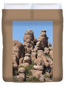 Devil Canyon Rim Rocks Duvet Cover