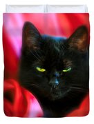 Devil In A Red Dress Duvet Cover