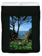 Devil's Churn Oregon Coastline Duvet Cover