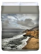 Devil's Slide Beach Duvet Cover