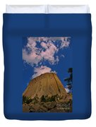 Devils Tower As A Volcano Duvet Cover