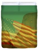 Devils Tower In America Duvet Cover by Anthony Wilkening
