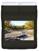 Devonian Fossil Gorge Coralville Lake Ia 3 Duvet Cover