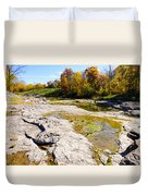 Devonian Fossil Gorge Coralville Lake Ia 1 Duvet Cover