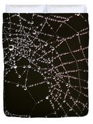 Dew Drops On Spider Web 4 Duvet Cover