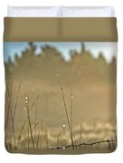 Dew Fog And Grasses Duvet Cover