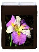 Dew On An Iris Duvet Cover