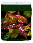 Dew On Autumn Leaves Duvet Cover