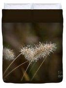 Dew On Ornamental Grass No. 2 Duvet Cover