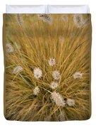Dew On Ornamental Grass No. 3 Duvet Cover