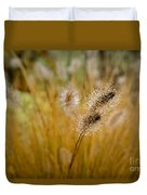 Dew On Ornamental Grass No. 4 Duvet Cover