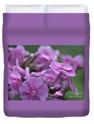 Dew On Phlox Duvet Cover