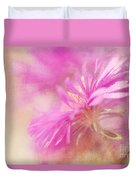 Dewy Pink Asters Duvet Cover by Lois Bryan