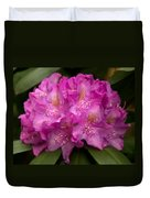 Dewy Rhododendron Duvet Cover