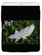 Dewy Swan Feather Duvet Cover