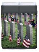 Dfw National Cemetery Duvet Cover