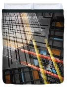 Diagonal Mondrian Duvet Cover