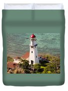 Diamond Head Lighthouse Honolulu Duvet Cover