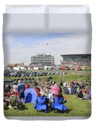 Diamond Jubilee Weekend At The Derby Horse Race On Epsom Downs  Duvet Cover