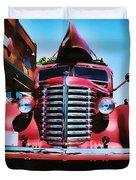 Diamond T Truck - Tomato Red Duvet Cover