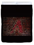 Diamondbacks Baseball Graffiti On Brick  Duvet Cover by Movie Poster Prints