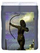 Diana-goddess Of The Hunt On B Street Duvet Cover