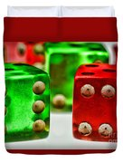 Dice - Boxcars Duvet Cover