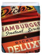 Dick's Hamburgers Duvet Cover
