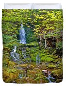 Dickson Falls In Fundy Np-nb Duvet Cover