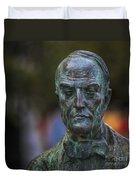 Diego Fernando Montanes Alvarez Statue Cadiz Spain Duvet Cover