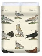 Different Kinds Of Pigeons Duvet Cover