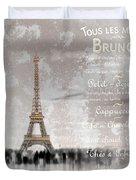 Digital-art Eiffel Tower II Duvet Cover