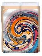 Digital Dunkin Duvet Cover by Sarah Loft