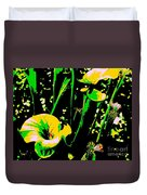Digital Green Yellow Abstract Duvet Cover