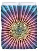 Digital Mandala Flower Duvet Cover