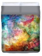 Digital Watercolor Abstract Duvet Cover