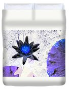 Digitally Altered Water Lily Duvet Cover