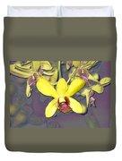 Digitised Orchids Duvet Cover
