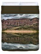 Dillon Pinnacles In Blue Mesa Duvet Cover
